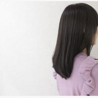 外国人風 アッシュ ミディアム 暗髪 ヘアスタイルや髪型の写真・画像