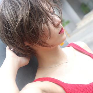 涼しげ 大人かわいい アウトドア ヘアアレンジ ヘアスタイルや髪型の写真・画像