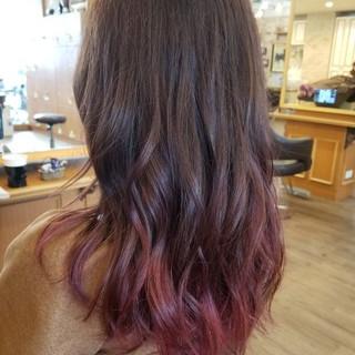 ブリーチ ハイライト ダブルカラー ロング ヘアスタイルや髪型の写真・画像