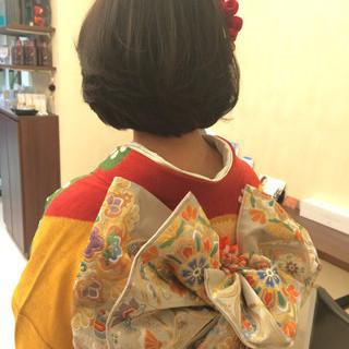 ヘアアレンジ ボブ 大人かわいい ゆるふわ ヘアスタイルや髪型の写真・画像