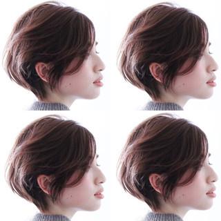 外国人風 簡単スタイリング ショート ナチュラル ヘアスタイルや髪型の写真・画像