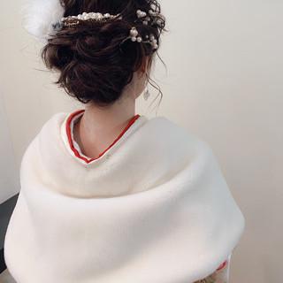 ヘアアレンジ アンニュイほつれヘア ナチュラル 成人式 ヘアスタイルや髪型の写真・画像