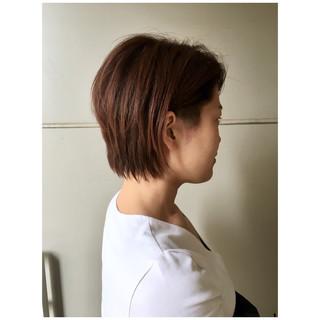 2ブロック 外国人風 ショートボブ ボブ ヘアスタイルや髪型の写真・画像