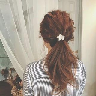 ポニーテール ナチュラル ロング 春 ヘアスタイルや髪型の写真・画像 ヘアスタイルや髪型の写真・画像