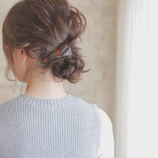 ハーフアップ ナチュラル ヘアアレンジ ハイライト ヘアスタイルや髪型の写真・画像