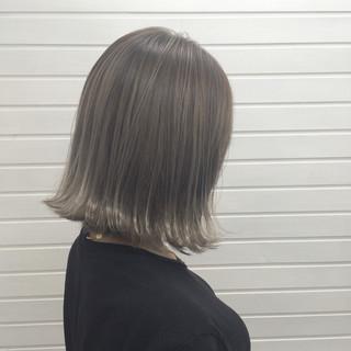 透明感 外ハネ ボブ 秋 ヘアスタイルや髪型の写真・画像