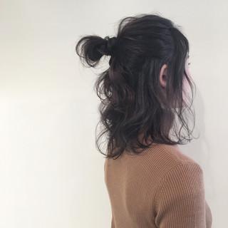アッシュ ミディアム ナチュラル ヘアアレンジ ヘアスタイルや髪型の写真・画像 ヘアスタイルや髪型の写真・画像