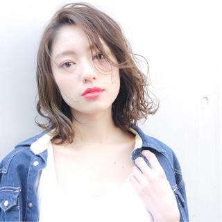 アンニュイ 外ハネ コンサバ オフィス ヘアスタイルや髪型の写真・画像