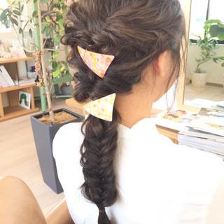 ヘアアレンジ 編み込み ロング フィッシュボーン ヘアスタイルや髪型の写真・画像