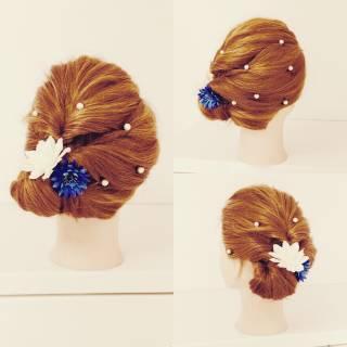 簡単ヘアアレンジ ガーリー セミロング セルフヘアアレンジ ヘアスタイルや髪型の写真・画像 ヘアスタイルや髪型の写真・画像