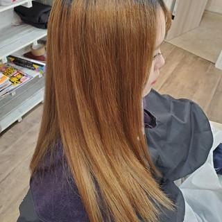 ストカール 縮毛矯正名古屋市 縮毛矯正 ブリーチ ヘアスタイルや髪型の写真・画像