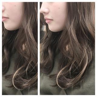 ナチュラル フェミニン グラデーションカラー ハイライト ヘアスタイルや髪型の写真・画像