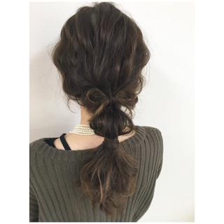 セミロング 編み込み ヘアアレンジ ロング ヘアスタイルや髪型の写真・画像