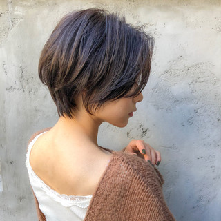 ベリーショート ショートボブ ミニボブ インナーカラー ヘアスタイルや髪型の写真・画像
