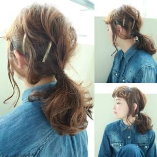 外国人風 ロング 簡単ヘアアレンジ パンク ヘアスタイルや髪型の写真・画像