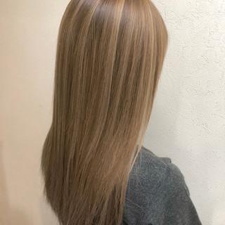 ハイトーンカラー モード ハイライト ロング ヘアスタイルや髪型の写真・画像
