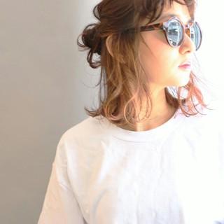 ストリート ハイライト ヘアアレンジ 夏 ヘアスタイルや髪型の写真・画像