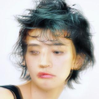 ハンサムショート ショート モード 似合わせカット ヘアスタイルや髪型の写真・画像