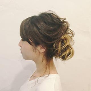 結婚式 ロング デート リラックス ヘアスタイルや髪型の写真・画像