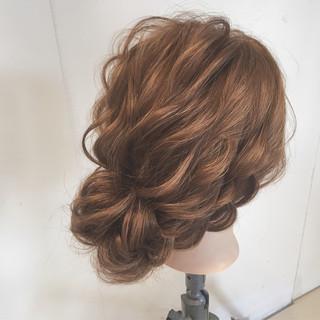 大人かわいい パーティ ナチュラル 結婚式 ヘアスタイルや髪型の写真・画像