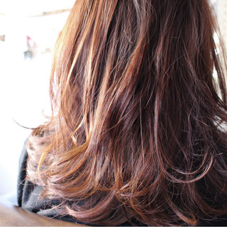 モーブ アッシュ 大人女子 ピンク ヘアスタイルや髪型の写真・画像