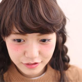 アッシュ ヘアアレンジ セミロング ハイライト ヘアスタイルや髪型の写真・画像 ヘアスタイルや髪型の写真・画像
