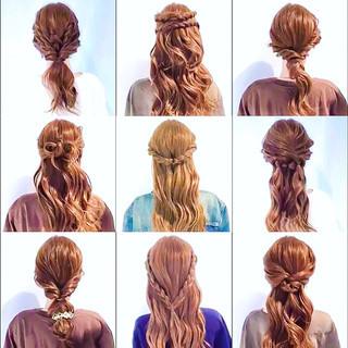 ヘアアレンジ 謝恩会 フェミニン 簡単ヘアアレンジ ヘアスタイルや髪型の写真・画像