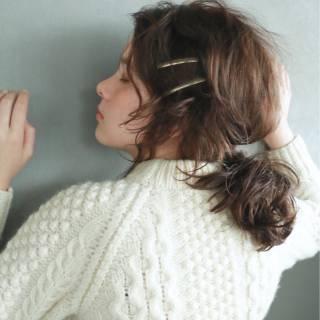 ミディアム 外国人風 無造作 パーティ ヘアスタイルや髪型の写真・画像