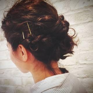 アッシュグレージュ 結婚式 ストリート 簡単ヘアアレンジ ヘアスタイルや髪型の写真・画像