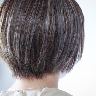 ハイライト 3Dハイライト 大人ハイライト ボブ ヘアスタイルや髪型の写真・画像