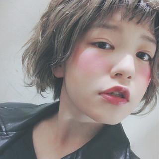 ショート モード ハイトーン ヘアアレンジ ヘアスタイルや髪型の写真・画像