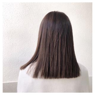 切りっぱなし デート ナチュラル セミロング ヘアスタイルや髪型の写真・画像