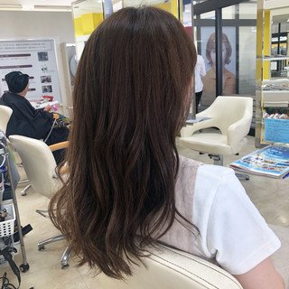 透明感カラー ナチュラル ハイライト ロング ヘアスタイルや髪型の写真・画像