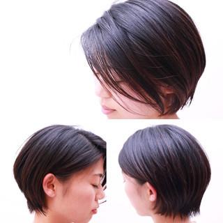 黒髪 ボブ くせ毛風 大人かわいい ヘアスタイルや髪型の写真・画像