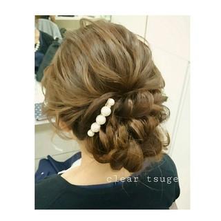 ゆるふわ ヘアアレンジ 大人かわいい シニヨン ヘアスタイルや髪型の写真・画像 ヘアスタイルや髪型の写真・画像