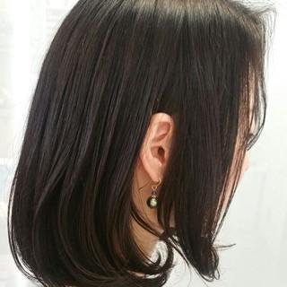 黒髪 ミディアム 大人かわいい パーマ ヘアスタイルや髪型の写真・画像 ヘアスタイルや髪型の写真・画像