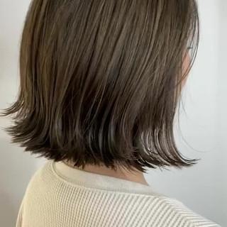 透明感カラー ナチュラル 外ハネ ミニボブ ヘアスタイルや髪型の写真・画像