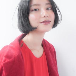 暗髪 透明感 ウェットヘア 秋 ヘアスタイルや髪型の写真・画像