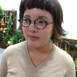 インナーカラー ボブ ガーリー 外ハネ ヘアスタイルや髪型の写真・画像