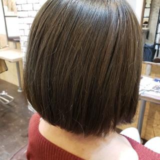 コンサバ ボブ くすみカラー ヘアスタイルや髪型の写真・画像
