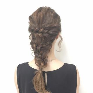 ヘアアレンジ 編み込み ロング 愛され ヘアスタイルや髪型の写真・画像