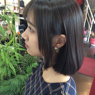 イルミナカラー ボブ アッシュグレージュ ヘアカラー ヘアスタイルや髪型の写真・画像