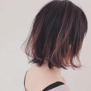 秋 ボブ グラデーションカラー 透明感 ヘアスタイルや髪型の写真・画像