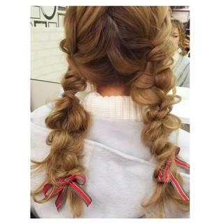 ガーリー 成人式 ヘアアレンジ 謝恩会 ヘアスタイルや髪型の写真・画像