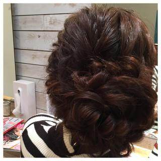 編み込み アップスタイル ヘアアレンジ ロング ヘアスタイルや髪型の写真・画像