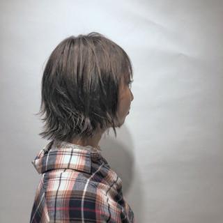 ショート ガーリー 秋 グレージュ ヘアスタイルや髪型の写真・画像