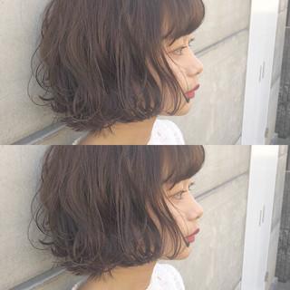 可愛い ふんわり ボブ 秋 ヘアスタイルや髪型の写真・画像