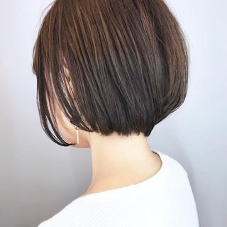 黒髪 小顔 大人グラボブ フェミニン ヘアスタイルや髪型の写真・画像