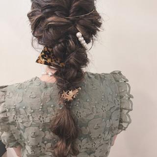 結婚式 ナチュラル ヘアアレンジ 冬 ヘアスタイルや髪型の写真・画像