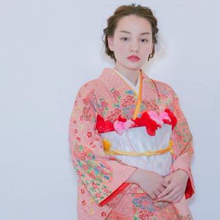 着物 大人かわいい 結婚式 ヘアアレンジ ヘアスタイルや髪型の写真・画像